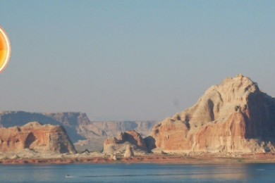 Views from the pool at the Lake Powell Resort at Wahweap Marina, Page, Arizona, June 19, 2015 | Photo by Hollie Reina, St. George News