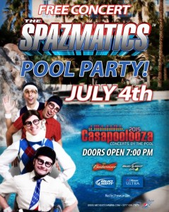 Casapoolooza Spazmatics event flyer, location and date not specified | Image courtesy of Mesquite Gaming, St. George News Click image to enlarge