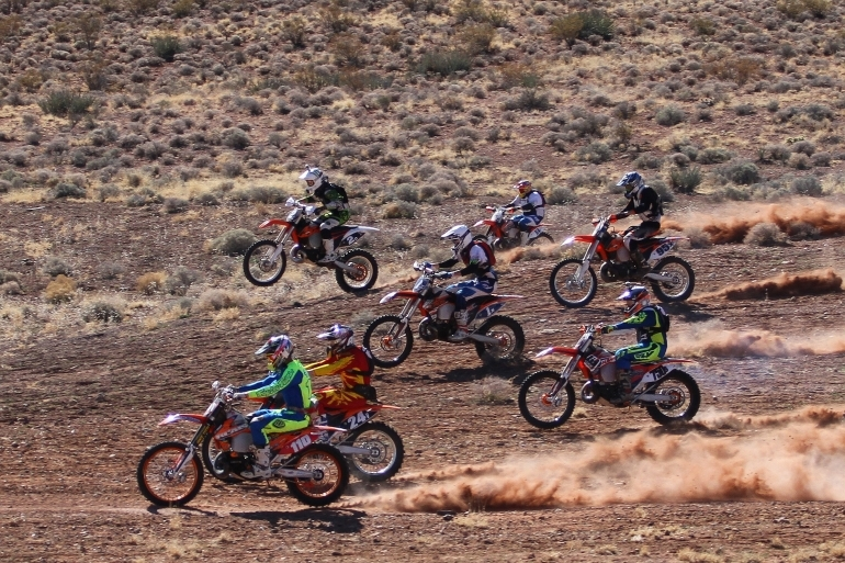 Skyler Howes (110) during his win at the Rhino Rally race in Warner Valley. | Photo courtesy Vurbmoto.com