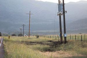 The fallen power line that possibly caused a brush fire, New Harmony, UT, June 20, 2015 | Photo by Nataly Burdick, St. George News