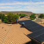 Solar panels installed on a home, Santa Clara, Utah | Photo by Dan Fowlks, St. George News