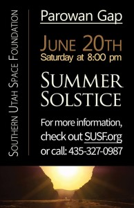 """Summer Solstice"" event flyer 