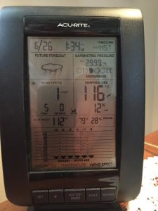Reader submitted photo of 116 degree temperature reading in LaVerkin, Utah, June 26, 2015 | St. George News