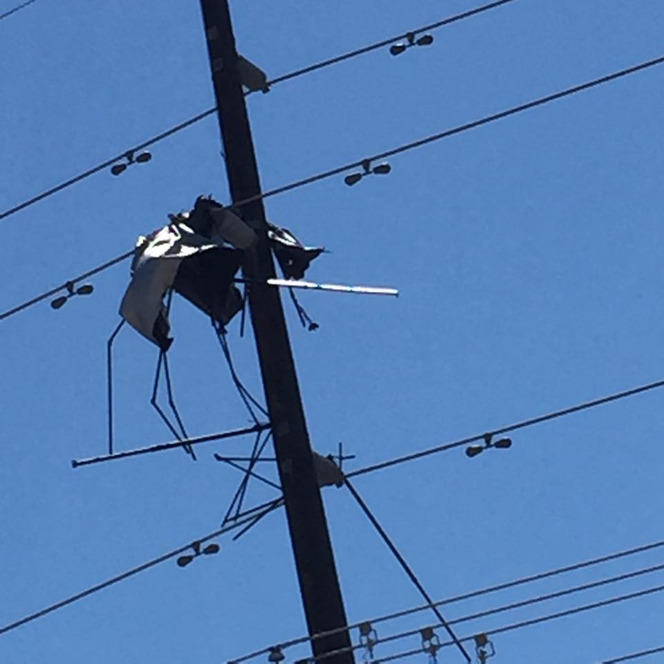 Tent Tangles In Power Pole Disrupts Power St George News