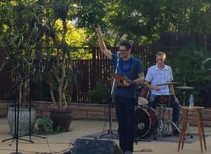 Thomas Anderson performing with his Fender ukulele, St. George, Utah, June 6, 2015 | Photo by Ric Wayman, St. George News