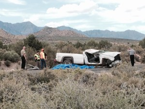 Fatal accident on Interstate 15 near Toquerville, Utah, June 12, 2015 | Photo by Mori Kessler, St. George News