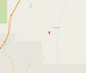 For illustration purposes only, map of approximate location of emergency response June 8 to report of a vehicle accident between state Route 17 and Toquerville Falls in the Toquerville area, June 8, 2015 | Map courtesy of Google Maps, St. George News