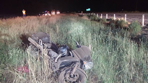 Allen Hintz of Congress, Arizona, succumbed to injuries after a motorcycle crash on Interstate 15, New Harmony, Utah, June 25, 2015 | Photo courtesy of Utah Highway Patrol, St. George News