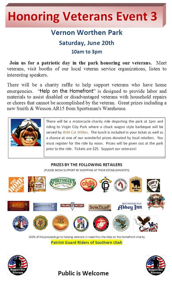 Event flyer | Image courtesy of Patriot Guard Riders, St. George News