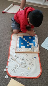 A child works with learning materials at Dayspring Montessori, Washington City, Utah, date not specified | Photo courtesy of Dayspring Montessori, St. George News