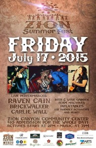 Event flyer | Image courtesy of Zion Summer Fest, St. George News