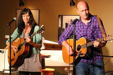 """In Spite of Ourselves,"" Maggie Hollinbeck and Larry Bull at The Grind Coffee House, date unspecified 