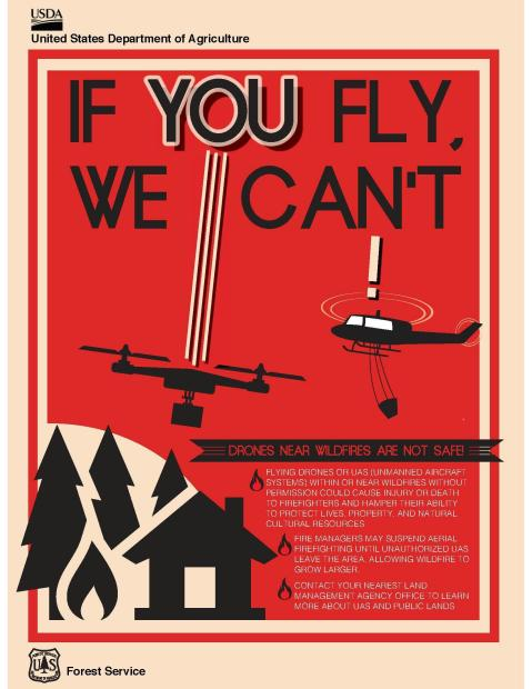Flyer posted by the NWCG on the Incident Information  Web page for the North Fire, burning in San Bernardino, California, July 17-18, 2015 | Image courtesy of NWCG, St. George News