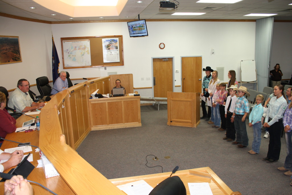 Members of the Hurricane 4-H make their case to the city council for its donation of ambulance services for the Utah 4-H Horse Show to be held at the County Fairgrounds September 24-26, July 16, 2015 | Reuben Wadsworth, St. George News