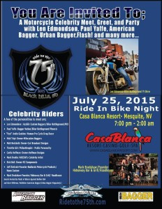 Ride to the 75th event flyer, location and date not specified | Flyer courtesy of Mesquite Gaming, St. George News Click image to enlarge