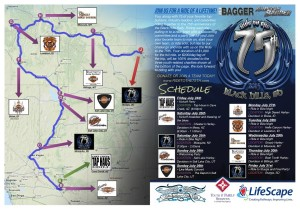 Ride to the 75th route and stop map, location and date not specified | Image courtesy of Mesquite Gaming, St. George News Click image to enlarge