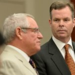 Former Utah Attorney General John Swallow, right, appears at the Matheson Courthouse in Salt Lake City, alongside his attorney Steve McCaughey for an arraignment hearing. Swallow has pleaded not guilty Monday to 13 charges of bribery and other crimes after prosecutors say he accepted beach vacations and use of a luxury houseboat from businessmen in trouble with regulators, Salt Lake City, Utah, July, 27, 2015 | Photo by Francisco Kjolseth/The Salt Lake Tribune via AP, Pool, St. George News