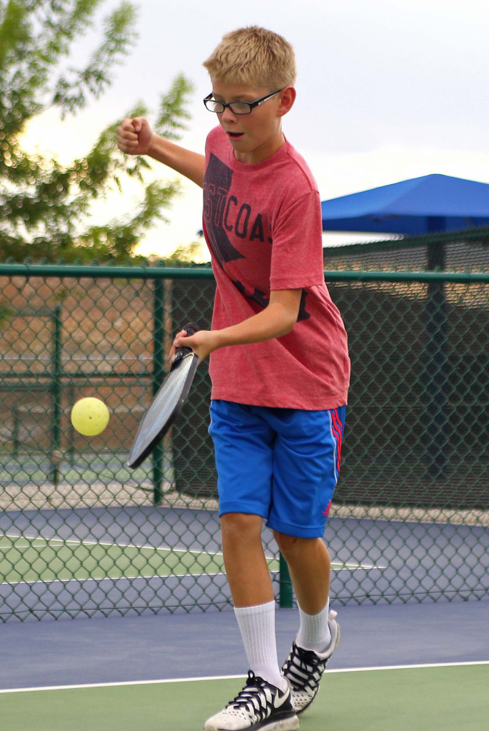 Carson Kennedy, City of St. George youth pickleball,  St. George, Utah, July 30, 2015, | Photo by Robert Hoppie, ASPpix.com, St. George News