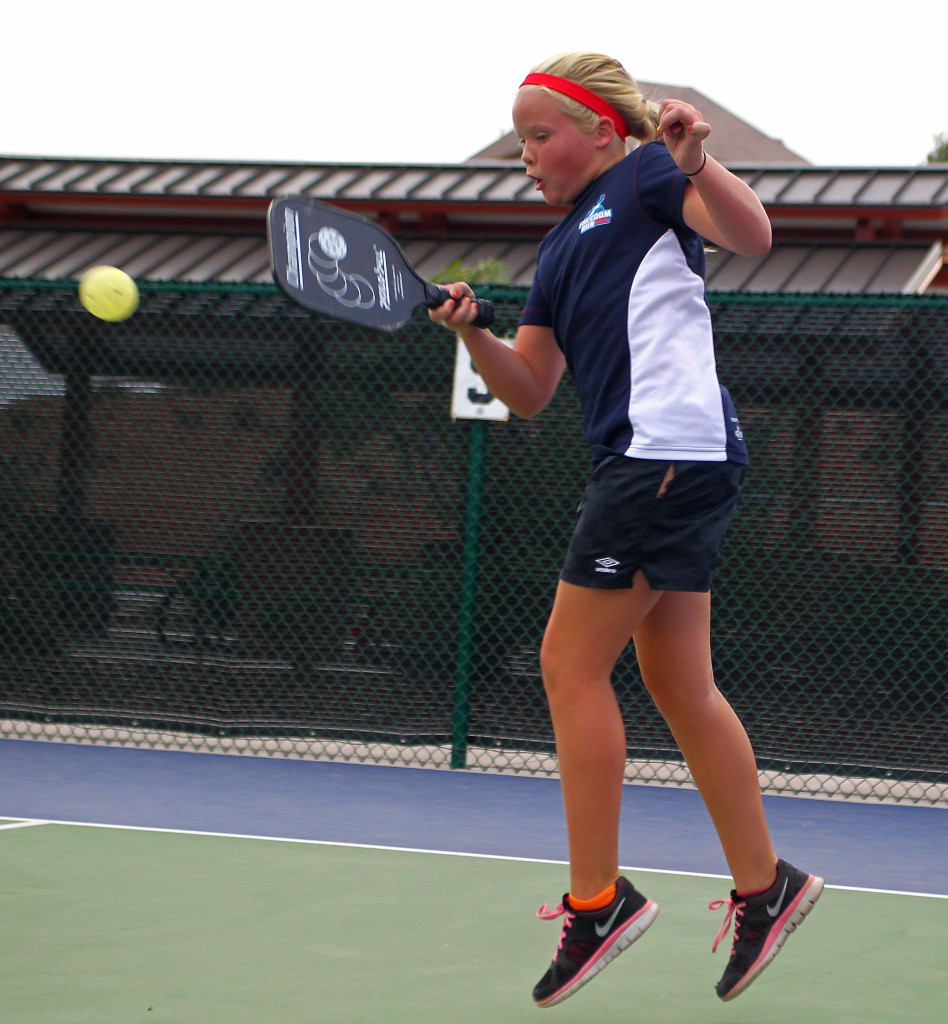 Ruby Ludlow, City of St. George youth pickleball,  St. George, Utah, July 30, 2015, | Photo by Robert Hoppie, ASPpix.com, St. George News