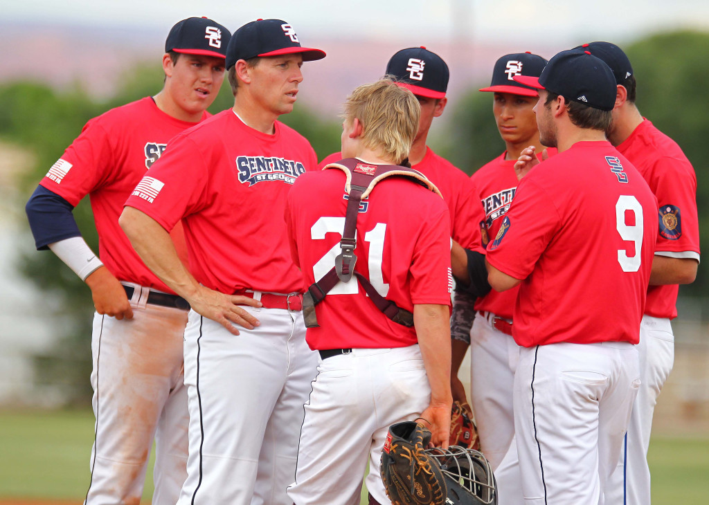 St. George Sentinels vs. Salt Lake City Gulls, American Legion Baseball, St. George, Utah, June 12, 2015, | Photo by Robert Hoppie, ASPpix.com, St. George News