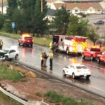 An accident near milepost 58 in Cedar City temporarily closed down all lanes of travel on Interstate 15, Cedar City, Utah, July 6, 2015 | Photo by Carin Miller, St. George News