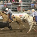Tj and Blake Bowler, Team Roping at Nationals, Des Moines, Iowa, June 27, 2015 | Photo courtesy of Melinda Bowler, St. George News