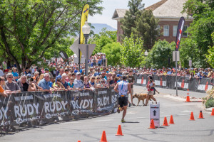 To the finish! Everyman champions. Ironman 70.3 St. George, St. George, Utah, May 2, 2015 | Photo by Dave Amodt, St. George News