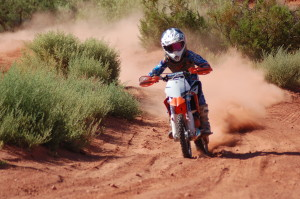Carson Hamblin takes a few practice laps in Warner Valley, Washington City, Utah, July 17, 2015 | Photo by Hollie Reina, St. George News