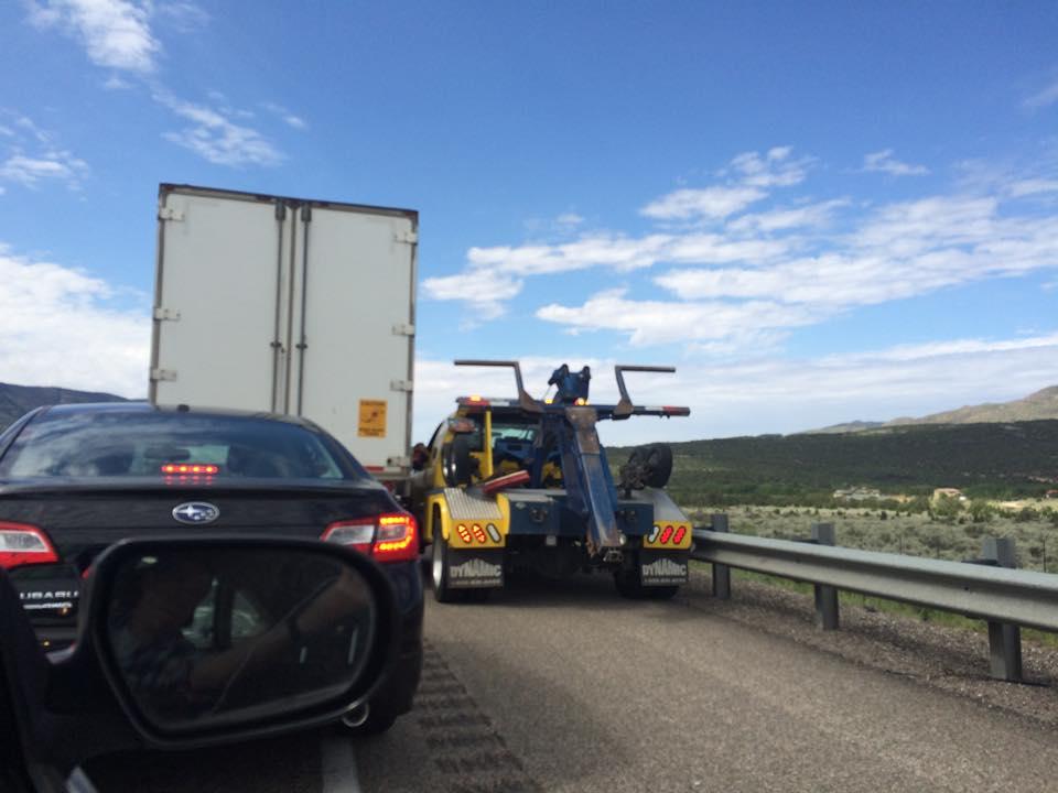 Traffic Advisory: Southbound I-15 near Kolob Canyon backed