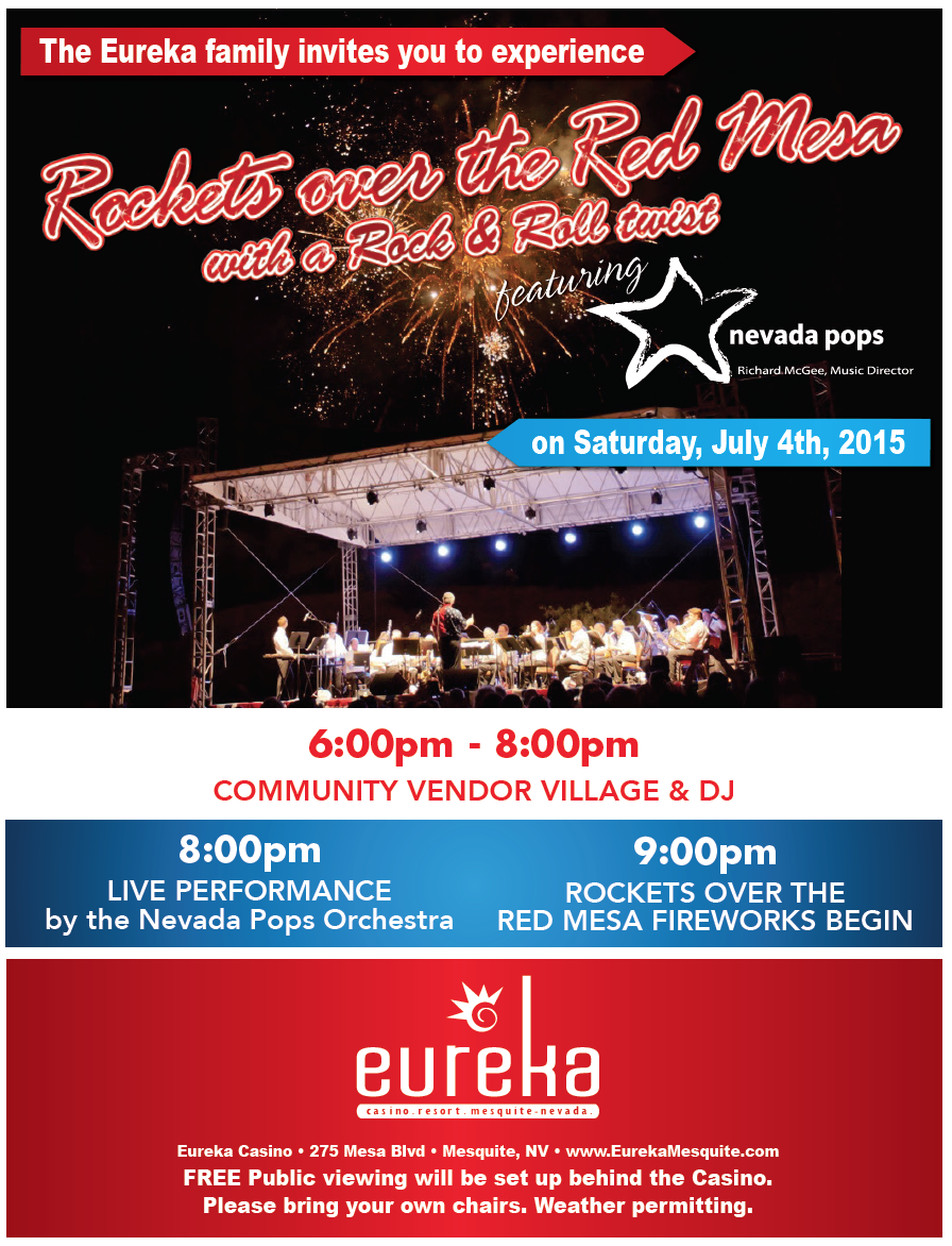 """""""Rockets over the Red Mesa"""" event flyer 