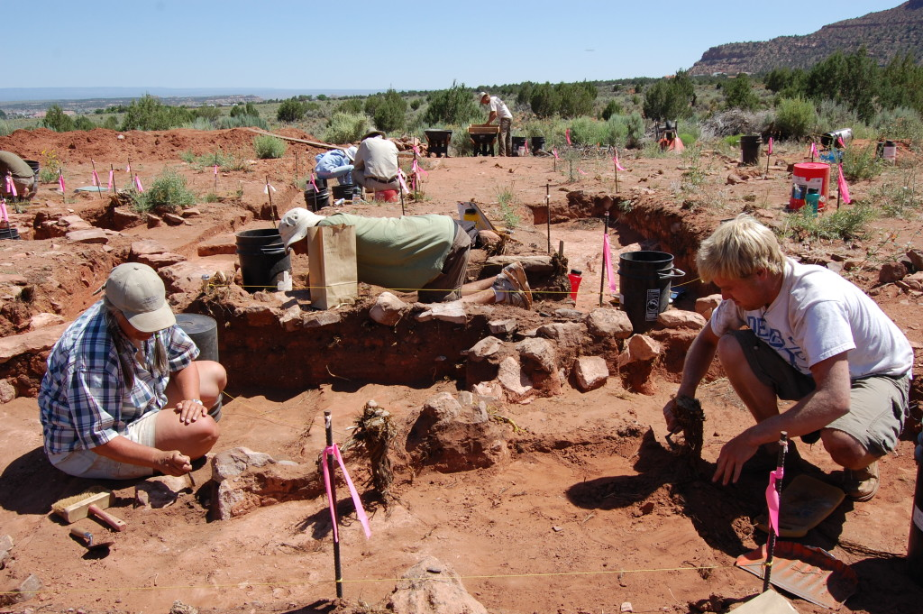 Barbara Frank and SUU students at the anthropology summer field camp, Kanab, Utah, date unspecified | Photo by Emily Dean, St. George News