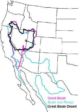 From the National Park Service: Defining the Great Basin begins with a choice: are you looking at the way the water flows (hydrographic), the way the landscape formed (geologic), or the resident plants and animals (biologic)? Each of these definitions will give you a slightly different geographic boundary of the Great Basin, but the hydrographic definition is the most commonly used. | Map courtesy of the National Park Service, St. George News