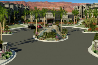 A computer-generated image of the planned Grayhawk Apartments, St. George, Utah | Photo courtesy of Cushman & Wakefield, St. George News