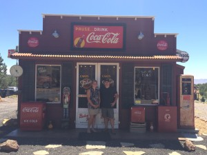 Steve and Kristeen Streeter in front of their facimile of an Old General Store, Veyo, Utah, July 13, 2015 | Photo Courtesy of Steve Streeter, St. George News