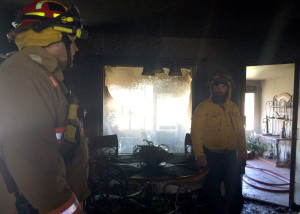 New Harmony residents Thayne and Vickie Colvin had a house fire Thursday that ravaged their home, 1006 S. Harmony Point Drive, New Harmony, Utah, July 09, 2015 | Photo by Carin Miller, St. George News
