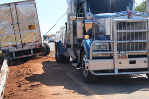 UHP responded to a semitruck that blew a tire heading north on I-15 in Washington City near mile post 12, July 21, 2015 | Photo by Jessica Tempfer, St. George News
