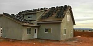 Home being built through Mutual Self-Help program in Ivins, Utah, Feb. 14, 2014 | Photo by Alexa Verdugo Morgan, St. George News