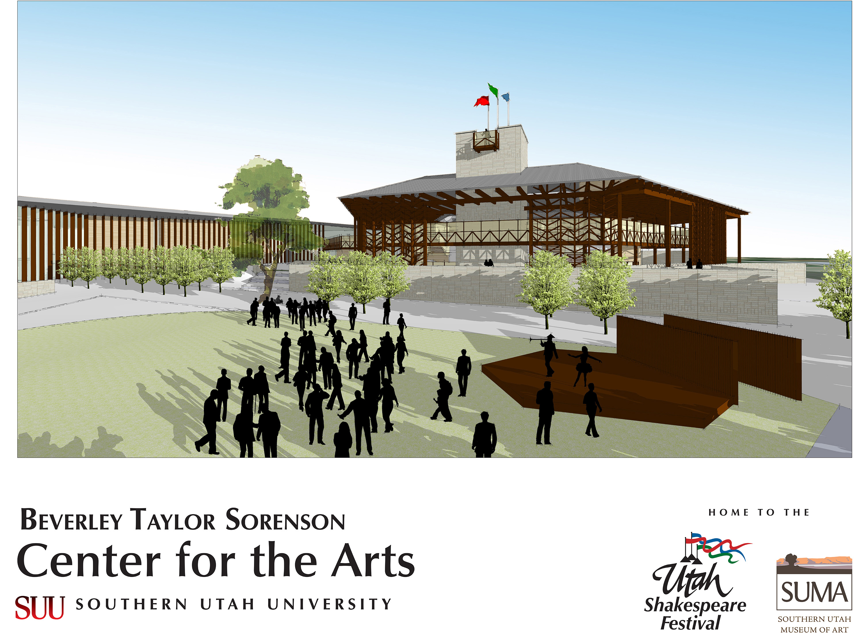 Englestad Theatre, Beverly Taylor Sorenson Center for the Arts | Rendering courtesy of Utah Shakespeare Festival, St. George News