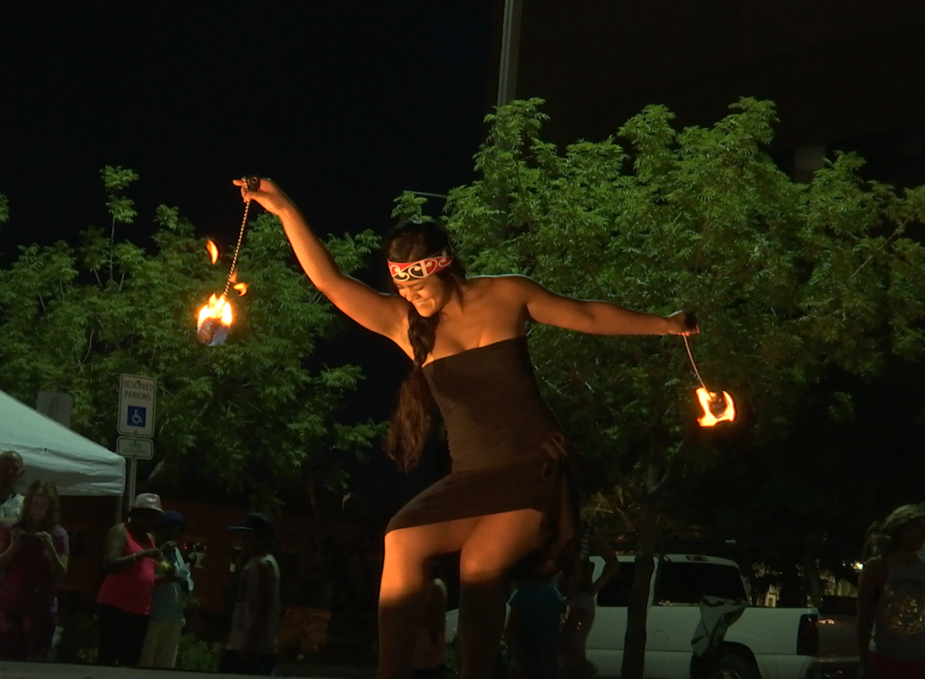 New Zealand fire poi dance