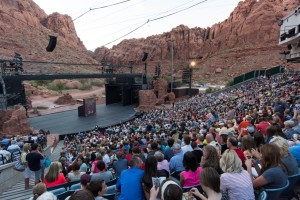 A packed house waits to enjoy Disney's Beauty and the Beast at Tuacahn Amphitheater, Ivins, Utah, photo undated | Photo courtesy Tuacahn Center for the Arts, St. George News