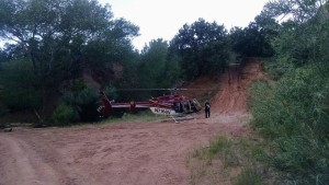 A Classic Lifeguard helicopter responds to help rescue an injured woman, Water Canyon, near Hildale, Utah, July 28, 2015 | Photo courtesy of Washington County Search and Rescue, St. George News