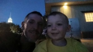 Greg Palmer is pictured at a movie in Vernon Worthen Park with his son John the night before he disappeared, St. George, Utah, July 10, 2015 | Photo courtesy of Greg Palmer Facebook page, St. George News