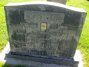 The first headstone in the St. George City Cemetery belonged to Ulrich Bryner