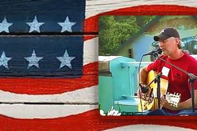 Image composite including graphics and photo of Darryl Worley from Western Freedom Festival Facebook page, St. George News