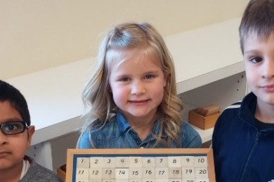 Children show their completed work at Dayspring Montessori, Washington City, Utah, date not specified | Photo courtesy of Dayspring Montessori, St. George News