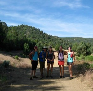 L-R Hollie Reina, Teena Christopherson, Cami Meinkey, Kathleen Berglund and Rachel Cieslewicz get ready to tackle The Narrows in Zion National Park, Utah, July 1, 2015   Photo by Cimarron Chacon, St. George News