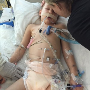 Kycie Terry was transported to Primary Children's Hospital via Life Flight, Salt Lake City, Utah, July 1, 2015 | Photo courtesy of Kisses for Kycie Facebook page, St. George News