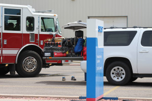 Fire fighters head in to SKF Manufacturing to put out a fire, LaVerkin, Utah, July 11, 2015 | Photo by Nataly Burdick, St. George News