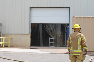 Fire trucks from around Southern Utah were on scene for a fire at SKF Manufacturing, LaVerkin, Utah, July 11, 2015 | Photo by Nataly Burdick, St. George News