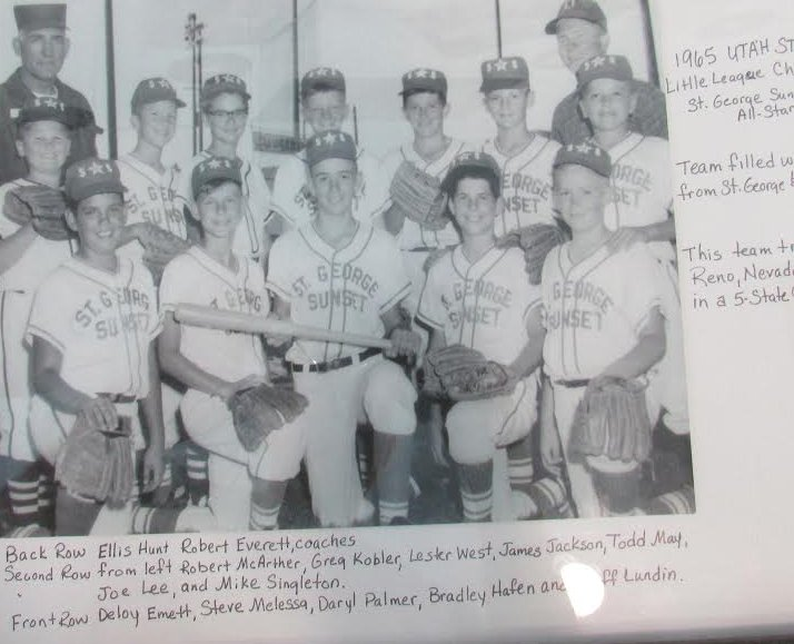Team photo in 1965 (names are listed).